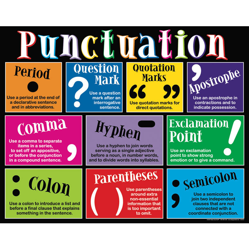 kinds of punctuation marks and its uses